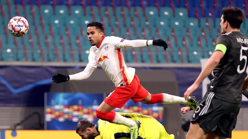 Kluivert scoring what would prove to be a crucial third goal for Leipzig