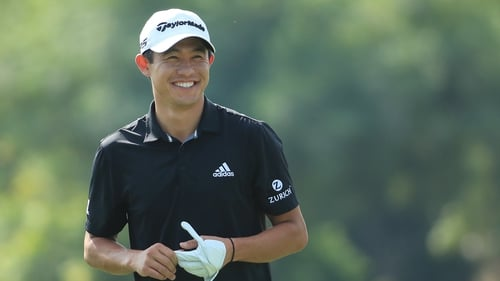 Collin Morikawa during the Pro Am event prior to the start of the DP World Tour Championship at Jumeirah Golf Estates