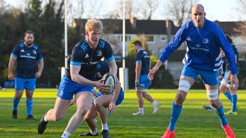 Devin Toner (R) with Jamie Osborne in Leinster training at UCD