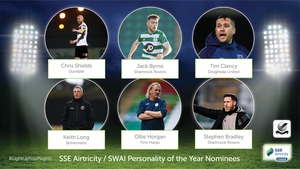 The nominees for the SSE Airtricity/Soccer Writers' Association of Ireland Personality of the Year