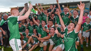 Limerick captain Cian Lynch holds the cup after the Munster MHC win 2014