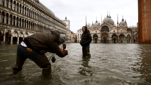 Flooding in St Mark's Square