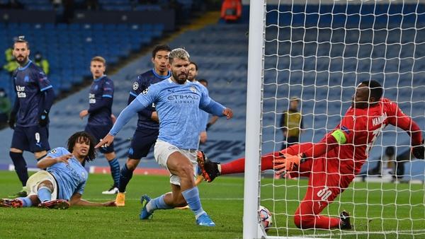 Sergio Aguero score for Man City