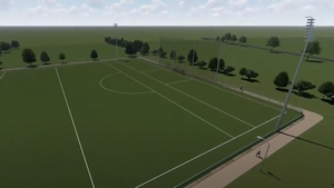 Artist's impression of new all-weather pitch at Charlestown Sarsfields GAA club