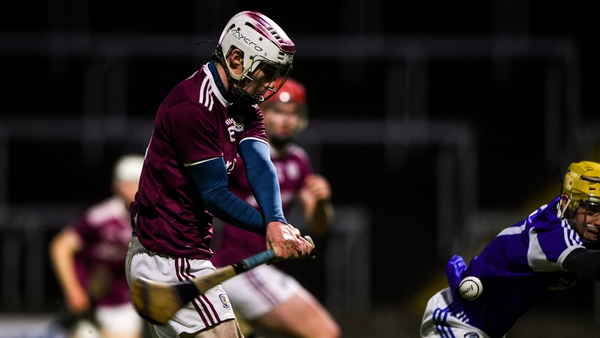 Donal O'Shea of Galway scores his side's first goal