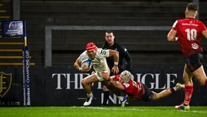 Cheslin Kolbe scores his second try, and Toulouse's fourth, at Kingspan Stadium