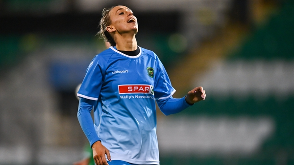 Stephanie Roche of Peamount United reacts during the FAI Women's Senior Cup Final