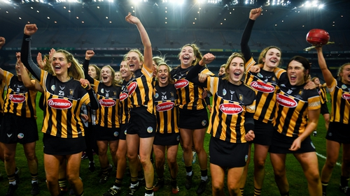 Kilkenny players celebrate their All-Ireland victory
