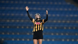 Kilkenny full-back Claire Phelan celebrates at the full-time whistle