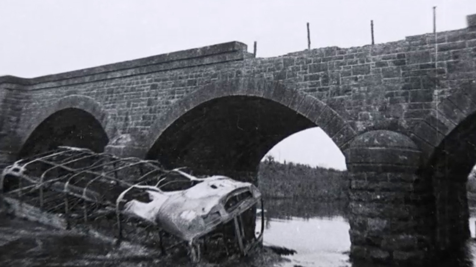 Image - Loyalist paramilitaries failed to fully disable the Aghalane Bridge  Photo: Paddy Ronaghan