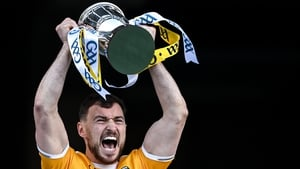 Conor McCann lifting the cup at the end