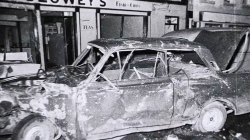 A 1972 bombing in Belturbet, Co Cavan, killed Geraldine O'Reilly, 15, and Paddy Stanley, 16 (Photo: Paddy Ronaghan)