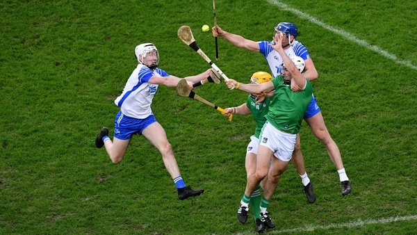 Two players from Waterford and two players from Limerick in last year's All Ireland hurling final
