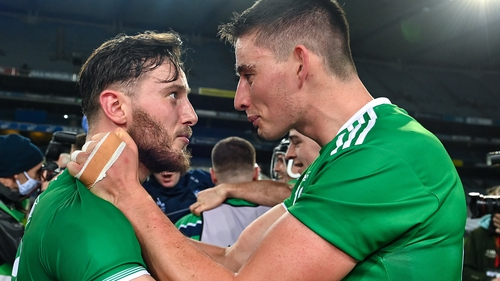 Limerick half-forwards Tom Morrissey (left) and Gearóid Hegarty scored a combined 0-12 from play