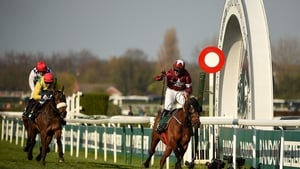 Magic Of Light finishing second behind Tiger Roll in the 2019 Grand National