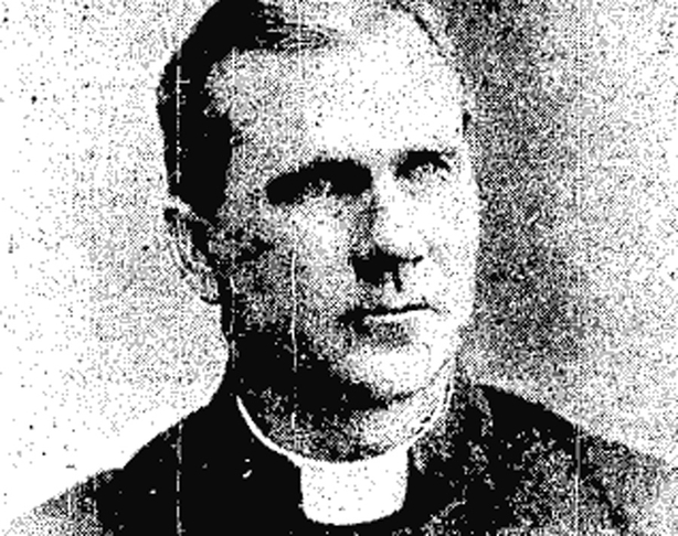 Canon Thomas Magner who was murdered in Dunmanway, Co. Cork on 15 December 1920. Photo: Cork Examiner, 16 December 1920