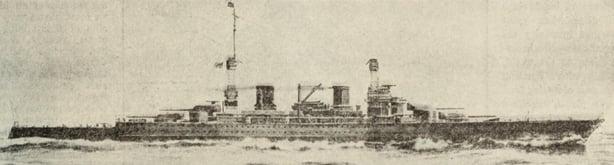 The 'Lexington', one of six new U.S. battlecruisers Photo: Literary Digest, 15 January 1921