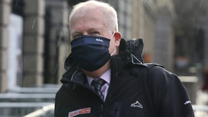 Director General of TG4, Alan Esslemont, arriving at Leinster House (Pic: RollingNews.ie)