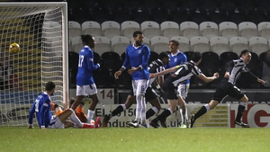 St Mirren's Conor McCarthy wheels away after scoring for the hosts