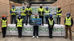 Staff at ECC Timber Products in Corr na Mona, Mayo supporting the initiative