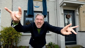 Peter Lynott at the unveiling of new plaque in honour of his nephew, Phil
