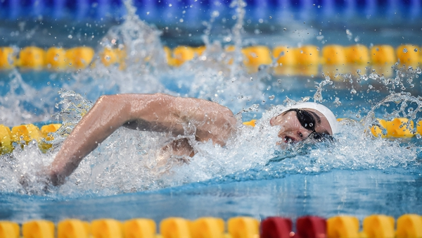 Jack McMillan was in scintillating form at the National Aquatic Centre