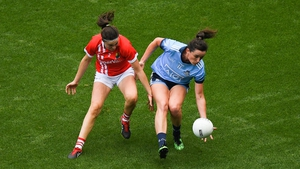 Niamh McEvoy in action against Hannah Looney of Cork last year