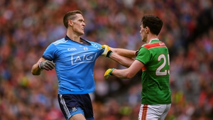 Brian Fenton tussles with Diarmuid O'Connor in the 2019 SFC semi-final