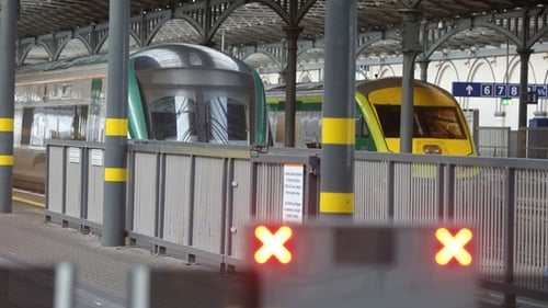 Rail passenger numbers in December are just 37% of what they had been in March due to Covid-19  (Pic: RollingNews.ie)