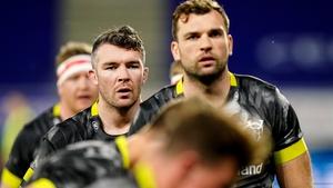 Tadhg Beirne (r) makes his Munster return