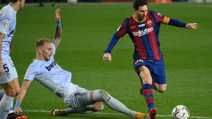 Lionel Messi drew level on 643 goals with Pele