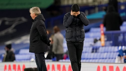 Mikel Arteta's side suffered their eighth Premier League loss of the season against Everton