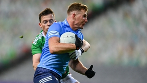 Ciarán Kilkenny of Dublin in action against Stephen Coen of Mayo in the All-Ireland final
