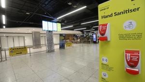 A near deserted Dublin Airport