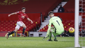 Daniel James of Manchester United scores their team's fifth goal