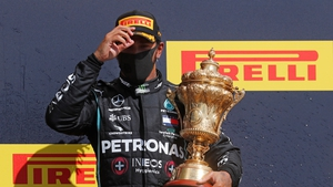 Hamilton was favourite to win the award after clinching a record-equalling seventh F1 world title