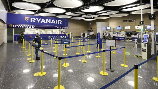 Irish airports were all but deserted for large parts of the year