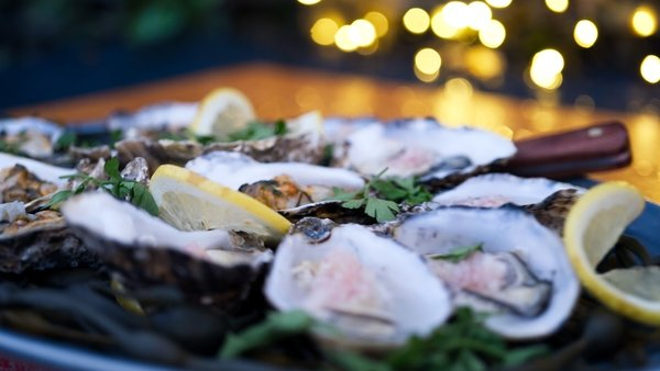 Catherine Fulvio's Duo of Oysters - Mignonette Oysters and Catherine's Smokey Oysters