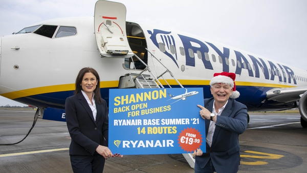 Mary Considine, CEO of Shannon Group, and Eddie Wilson, CEO of Ryanair DAC.
