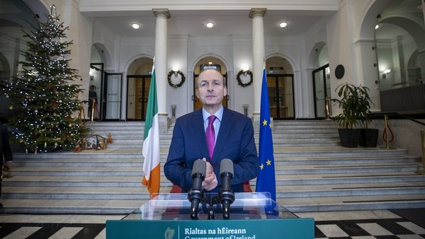 Micheál Martin saidthe move was in response to the extraordinary increase inCovid-19 cases
