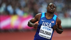 Christian Coleman was among those sanctioned by the Athletics Integrity Unit