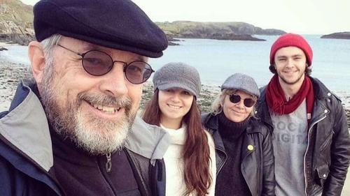 Rich Cahill (R) and his family on a Christmas walk a few years ago