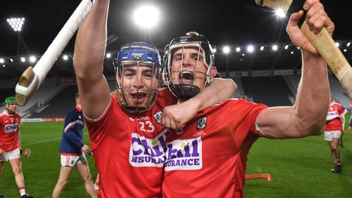 Shane O'Regan and Daira Connery celebrate the win for the Rebels