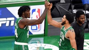 Jayson Tatum (r) was the hero for Boston Celtics