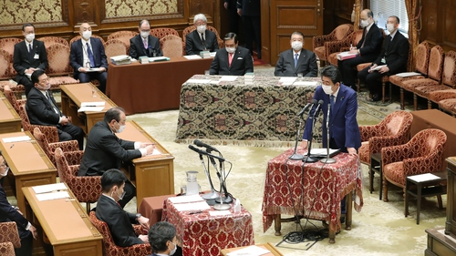 Shinzo Abe said he gave explanations 'contrary to the facts'