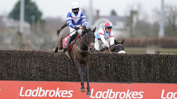 Bryony Frost and Frodon clear the last in the King George