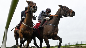 Danny Mullins galvanised Colreevy (near side) to score by half a length