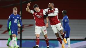 Granit Xhaka scored the second goal for Arsenal