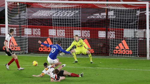 Gylfi Sigurdsson scores the only goal of the game at Bramall Lane