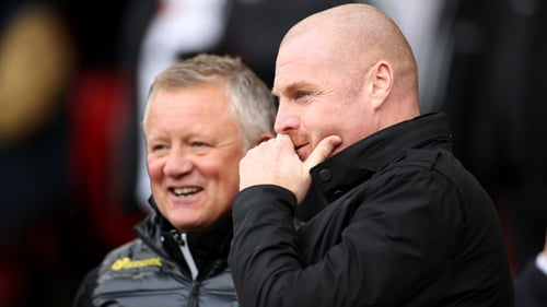 Burnley manager Sean Dyche (R) and Sheffield United manager Chris Wilder